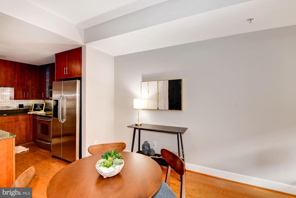 Kitchen Opens Beautifully to Dining Area! - 910 M ST NW #525, WASHINGTON