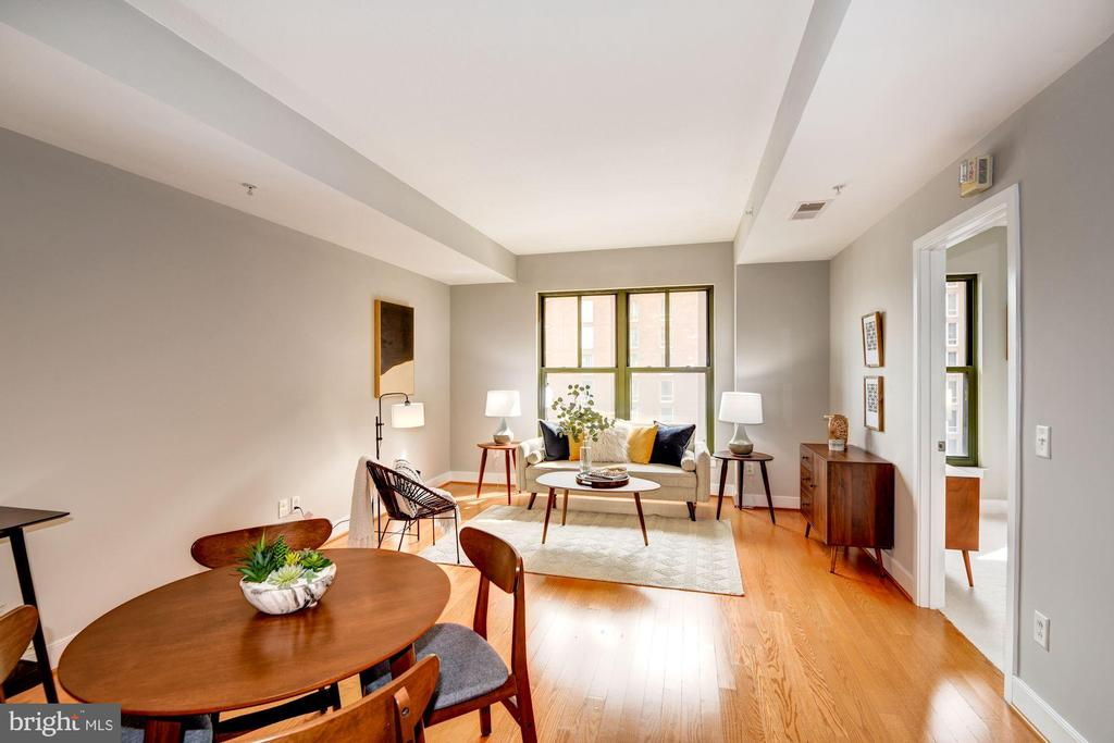 Dining Area Opens Beautifully to Living Room! - 910 M ST NW #525, WASHINGTON