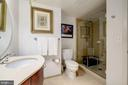Large glass front shower with hand held fixture - 1701 KALORAMA RD NW #206, WASHINGTON