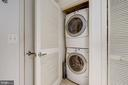 In-unit full sized stackable washer/dryer - 1701 KALORAMA RD NW #206, WASHINGTON