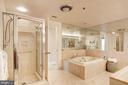 Spa-like ensuite master bath - 5600 WISCONSIN AVE #1408, CHEVY CHASE