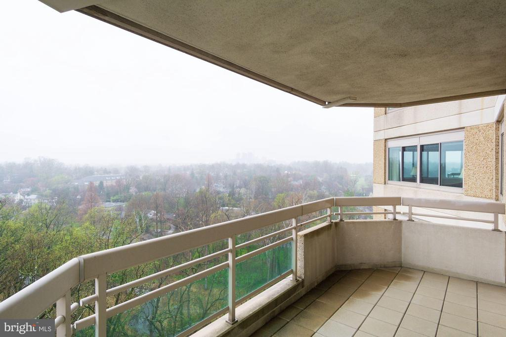 Private balcony off of master bedroom - 5600 WISCONSIN AVE #1408, CHEVY CHASE
