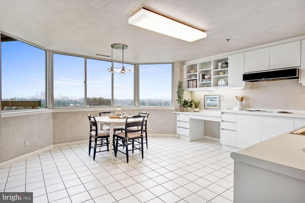 Spacious kitchen with wall of windows - 5600 WISCONSIN AVE #1408, CHEVY CHASE