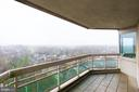 Balcony off of dining room with sweeping views - 5600 WISCONSIN AVE #1408, CHEVY CHASE