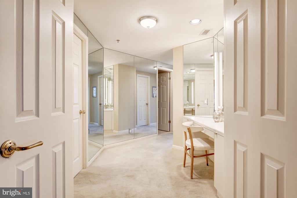 Double door entry to master bedroom suite - 5600 WISCONSIN AVE #1408, CHEVY CHASE