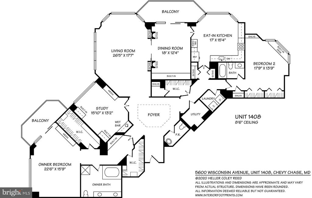 Floor plan - 5600 WISCONSIN AVE #1408, CHEVY CHASE