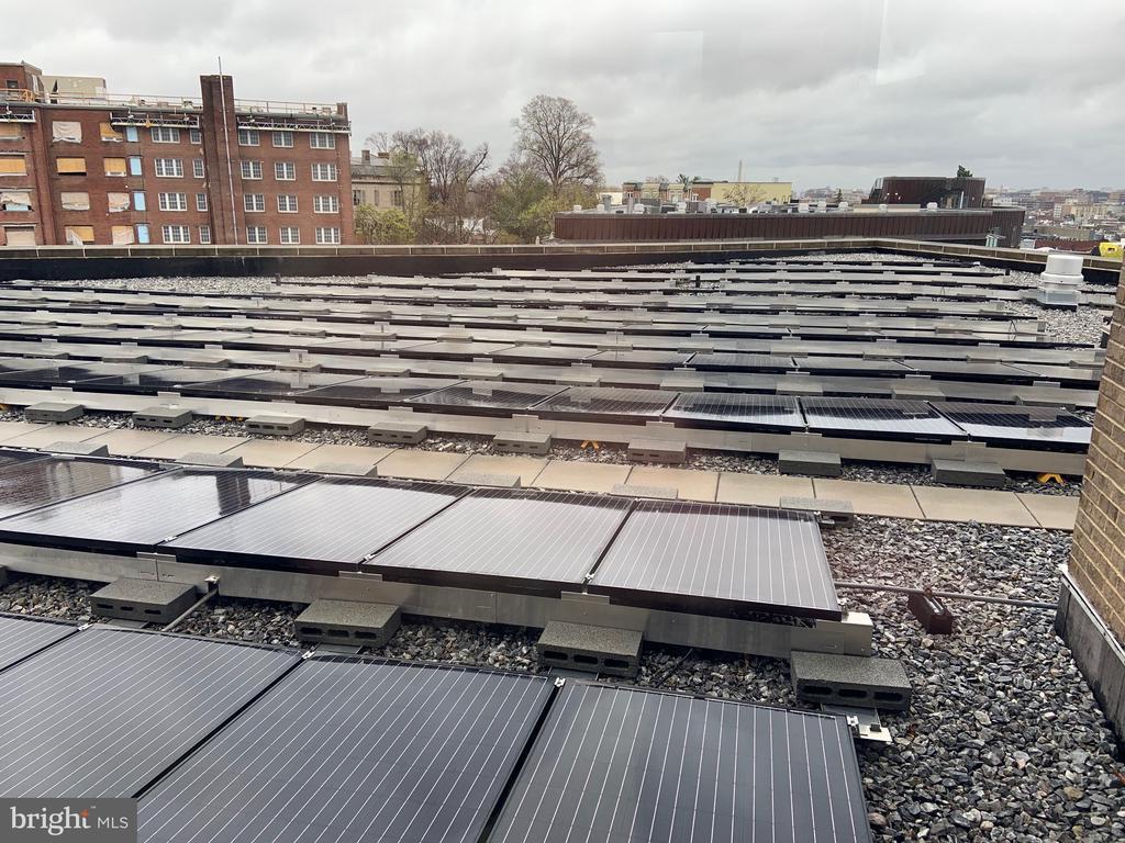 Solar panels offset common area electricity costs - 1701 KALORAMA RD NW #206, WASHINGTON