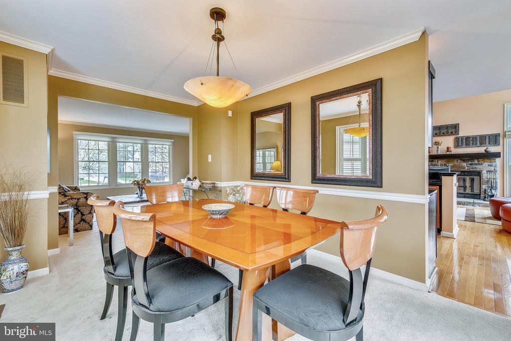 Formal Dining Room w/ Bay Window - 738 SONATA WAY, SILVER SPRING