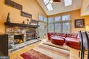 Familyroom w/stone fireplace - 738 SONATA WAY, SILVER SPRING