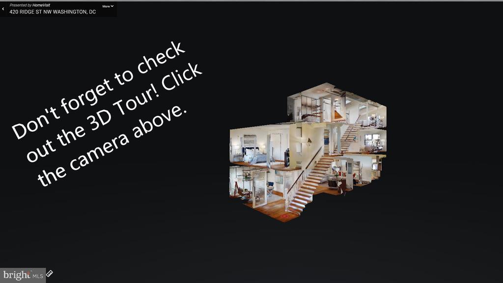 3D Tour to help alleviate visits until you are rea - 420 RIDGE ST NW, WASHINGTON