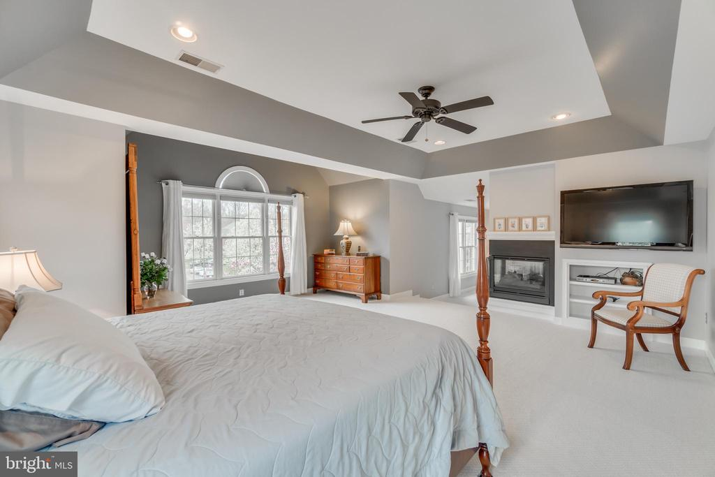Master bedroom with dual fireplace - 20464 SWAN CREEK CT, STERLING