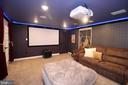 Basement Media Room - 23219 LUNAR HARVEST LN, ALDIE