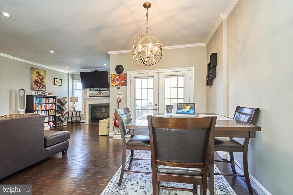 Dining area to family room - 8932 ATATURK WAY, LORTON