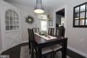 Dining room with built-ins - 11833 PURCELL RD, LOVETTSVILLE