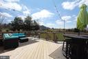 Alt view of large deck - 11833 PURCELL RD, LOVETTSVILLE