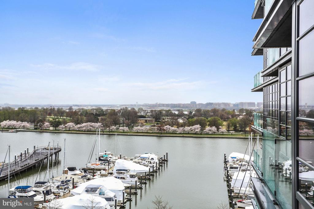 Water & Hains Point views from the LR & Balcony - 45 SUTTON SQ SW #704, WASHINGTON