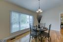 Dining Room with natural lighting - 5 EMERSON CT, STAFFORD