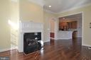 Family Room open to Kitchen - 18441 LANIER ISLAND SQ, LEESBURG