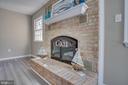 Beautiful Brick Fireplace!!! - 401 CORNWALLIS AVE, LOCUST GROVE