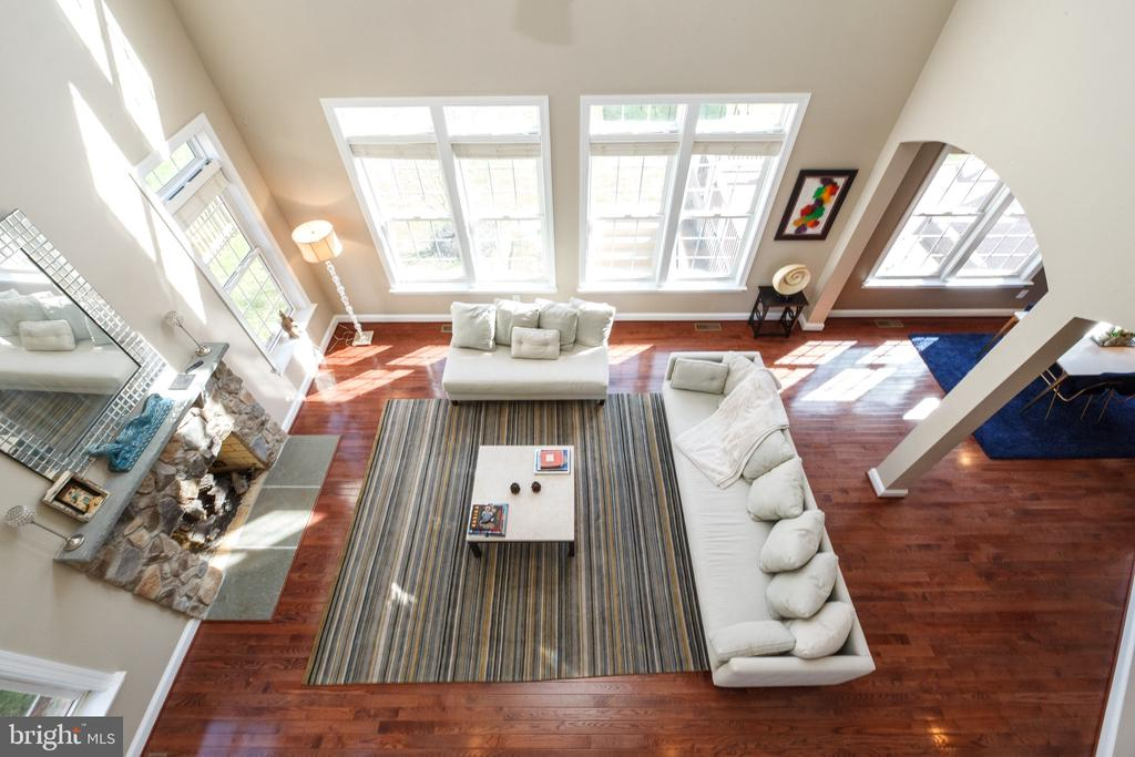 View from above in the family room - 18754 KIPHEART DR, LEESBURG