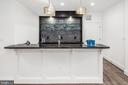 Bar w/ beverage center, sink, and dishwasher - 31 N JACKSON ST, ARLINGTON