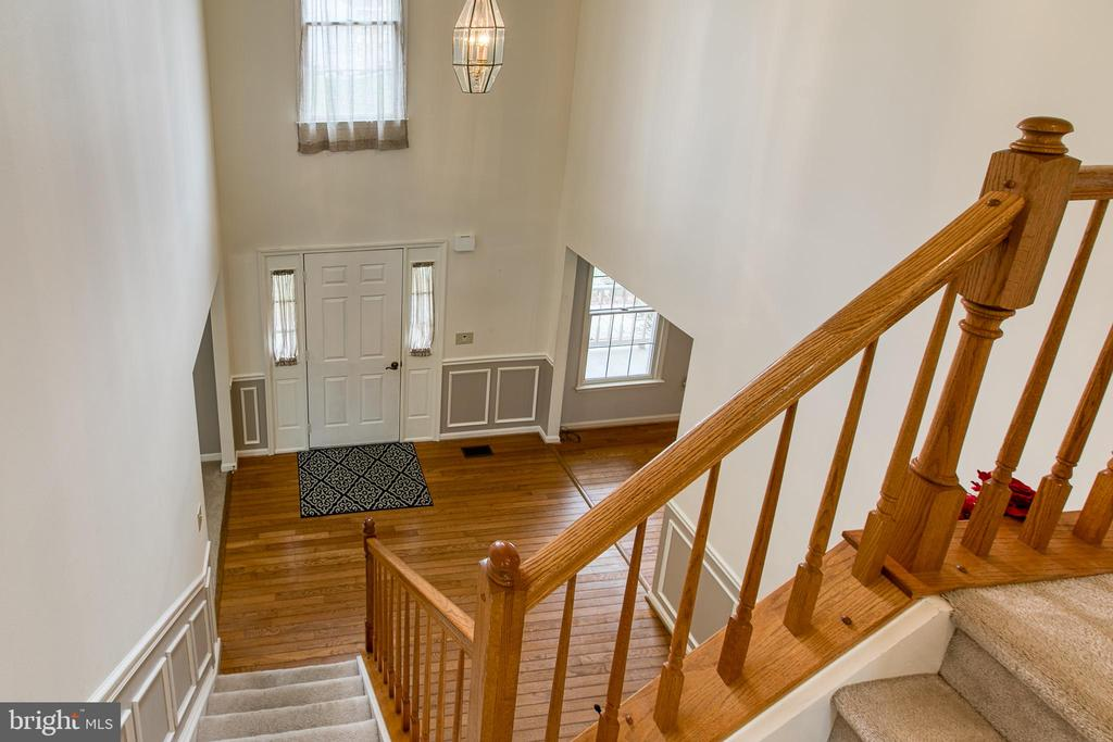 Foyer view from second level - 58 BALDWIN DR, FREDERICKSBURG