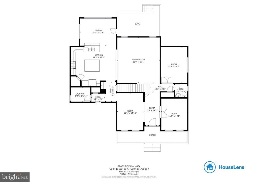 Main Level Floor Plan - 107 THOMPSON CT, WINCHESTER