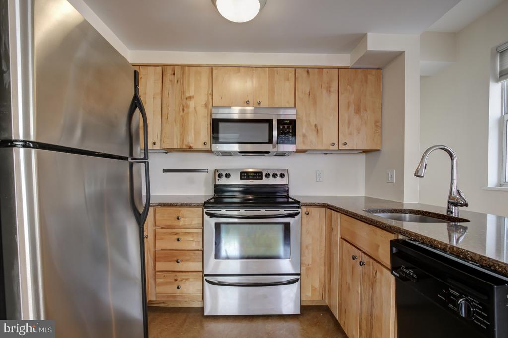 Well Equipped Modern Kitchen w/ granite countertop - 2114 N ST NW #21, WASHINGTON