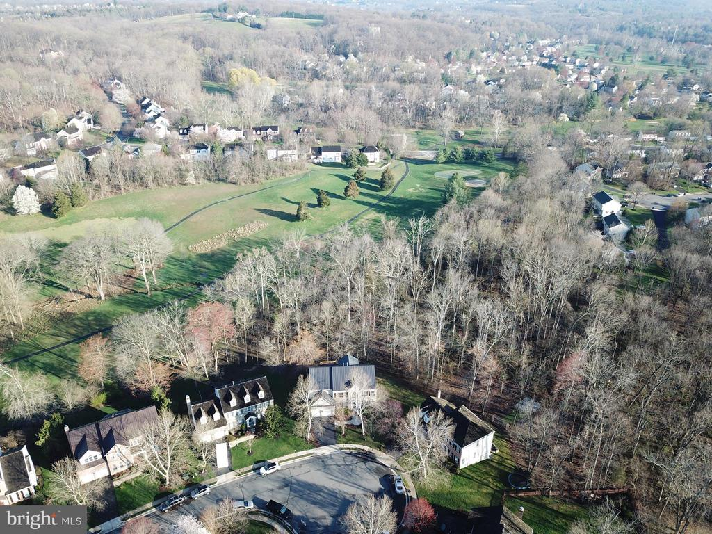 Another aerial shows the privacy behind home - 1439 HARLE PL SW, LEESBURG