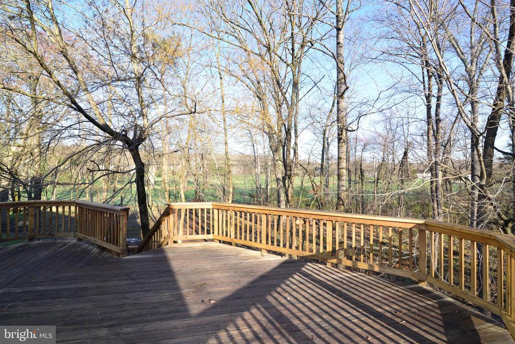 Expansive deck with views of woods - 1439 HARLE PL SW, LEESBURG