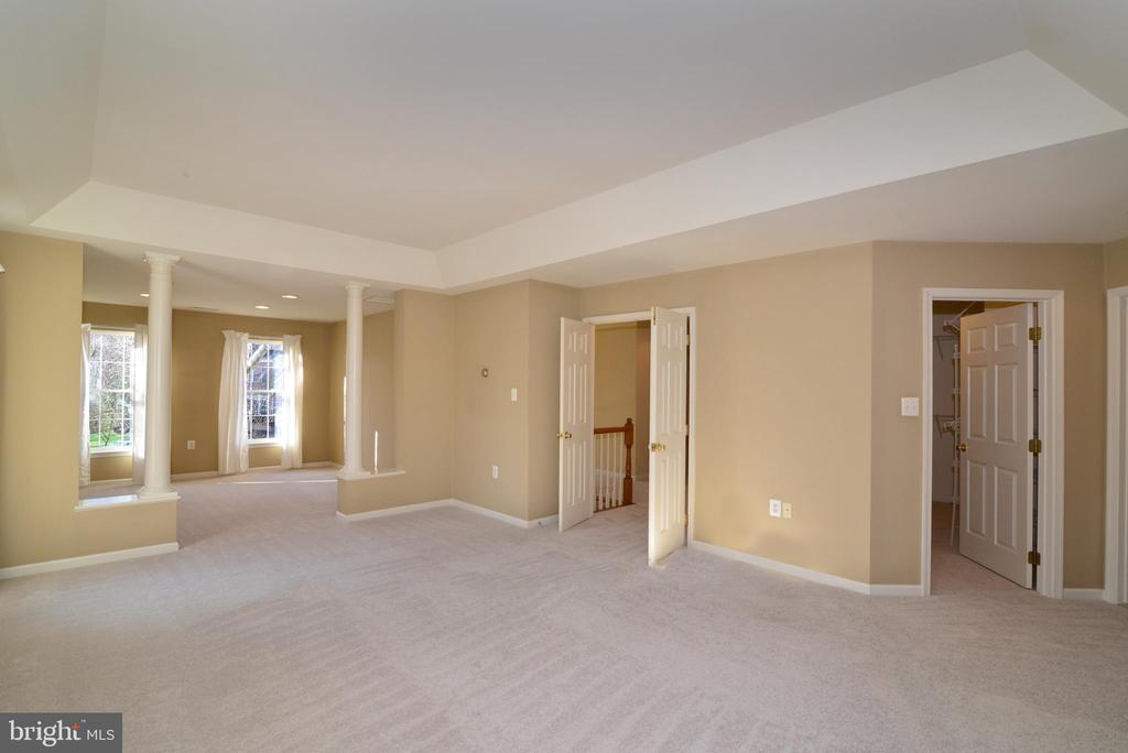 Spacious owners suite w tray ceiling, double doors - 1439 HARLE PL SW, LEESBURG