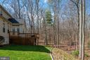 Rear view of deck and wooded area - 28 FIREBERRY BLVD, STAFFORD