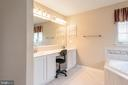 Double vanity with new marble top - 28 FIREBERRY BLVD, STAFFORD