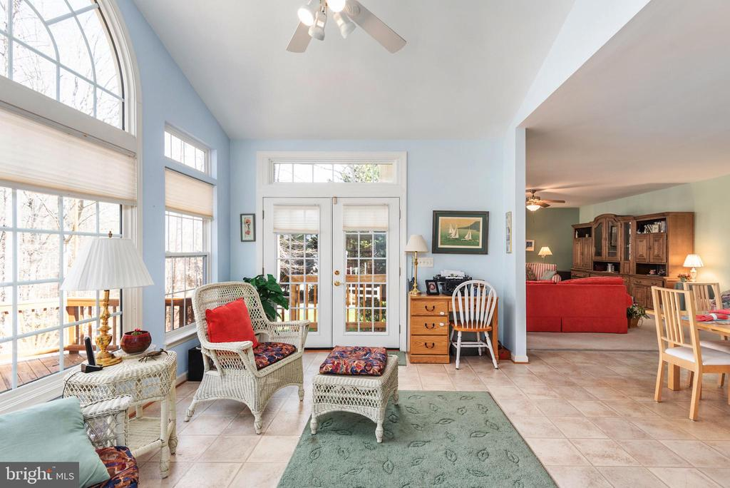 Sunroom view to family room - 28 FIREBERRY BLVD, STAFFORD