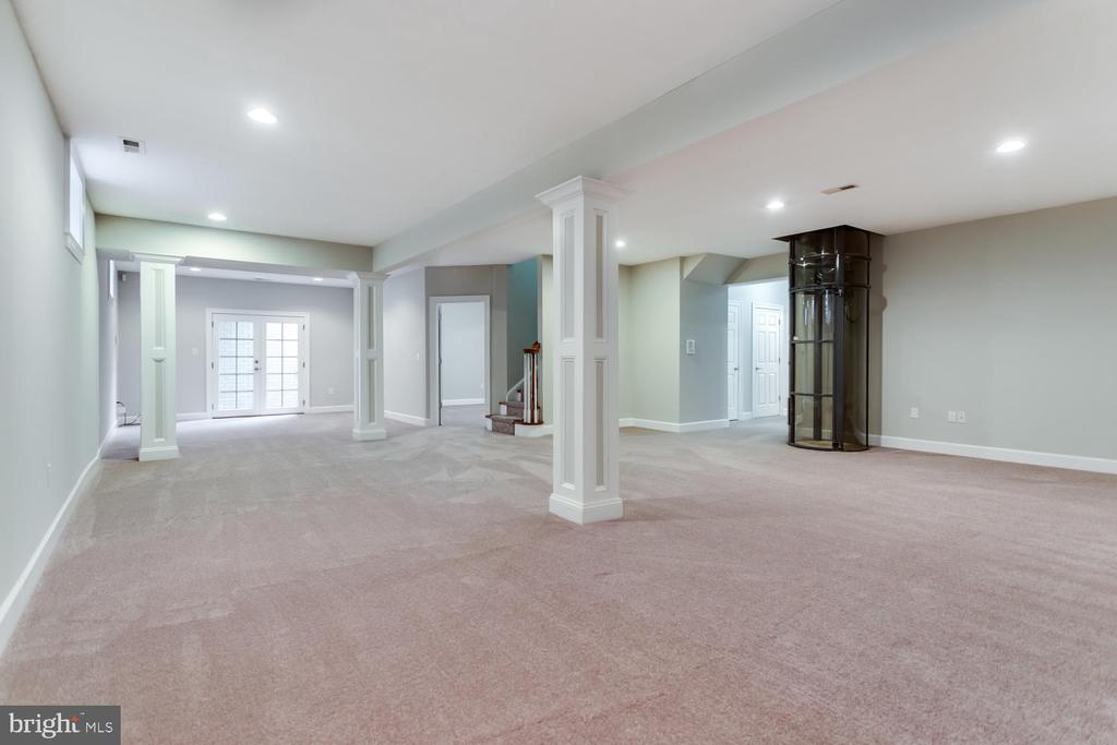 Lower floor 42 x 22 rec-room - 8012 BAINBRIDGE RD, ALEXANDRIA