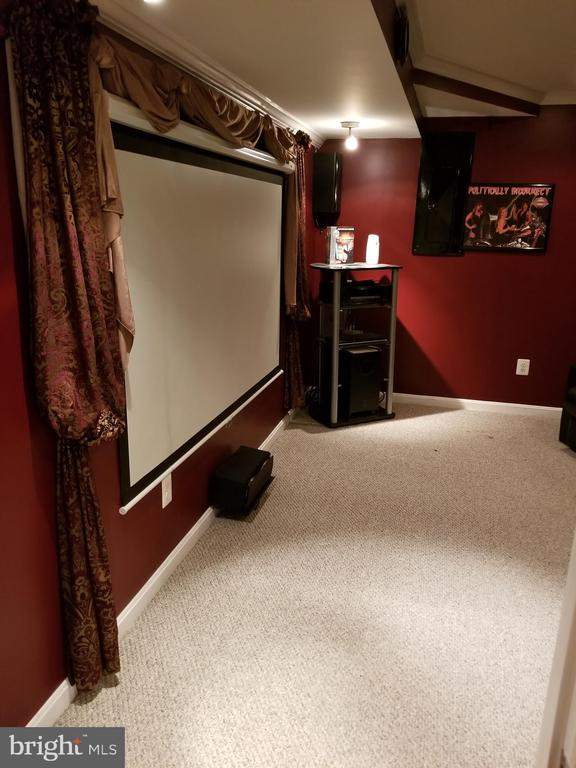Media Room Conveys with Equipment - 21 SLATE DR, FREDERICKSBURG