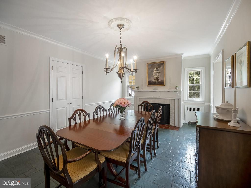 Dining room with slate floor (over hardwood) - 915 MCCENEY AVE, SILVER SPRING