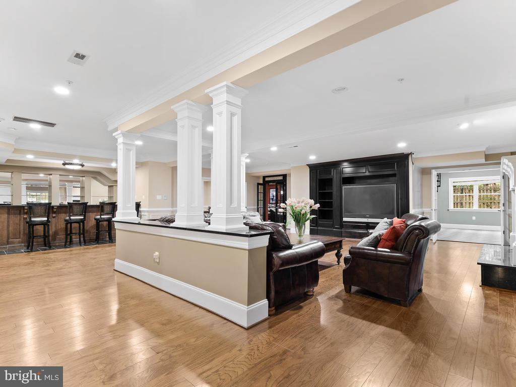 BASEMENT ENTERTAINMENT ROOM - 10801 WINDCLOUD CT, OAKTON
