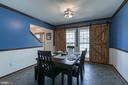 Dining Room with barn doors - 435 OAKRIDGE DR, STAFFORD
