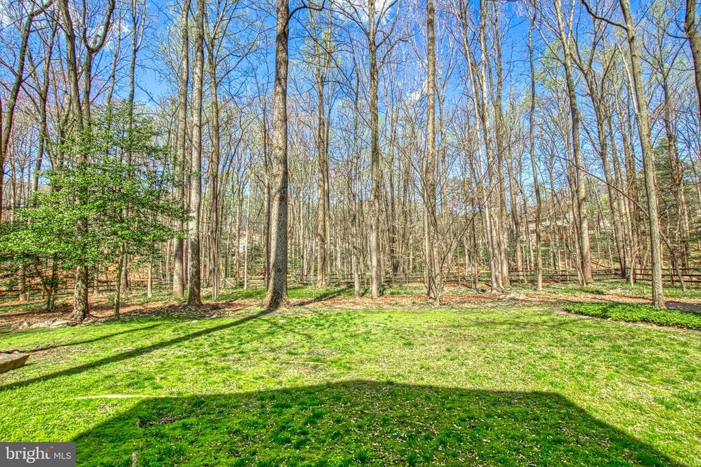 Large Fenced Yard Backs to Trees - 7308 S VIEW CT, FAIRFAX STATION