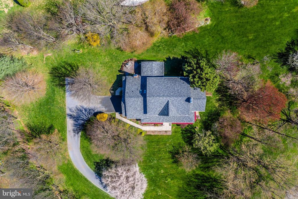 Aerial view showing spring colors. - 7799 COBLENTZ RD, MIDDLETOWN