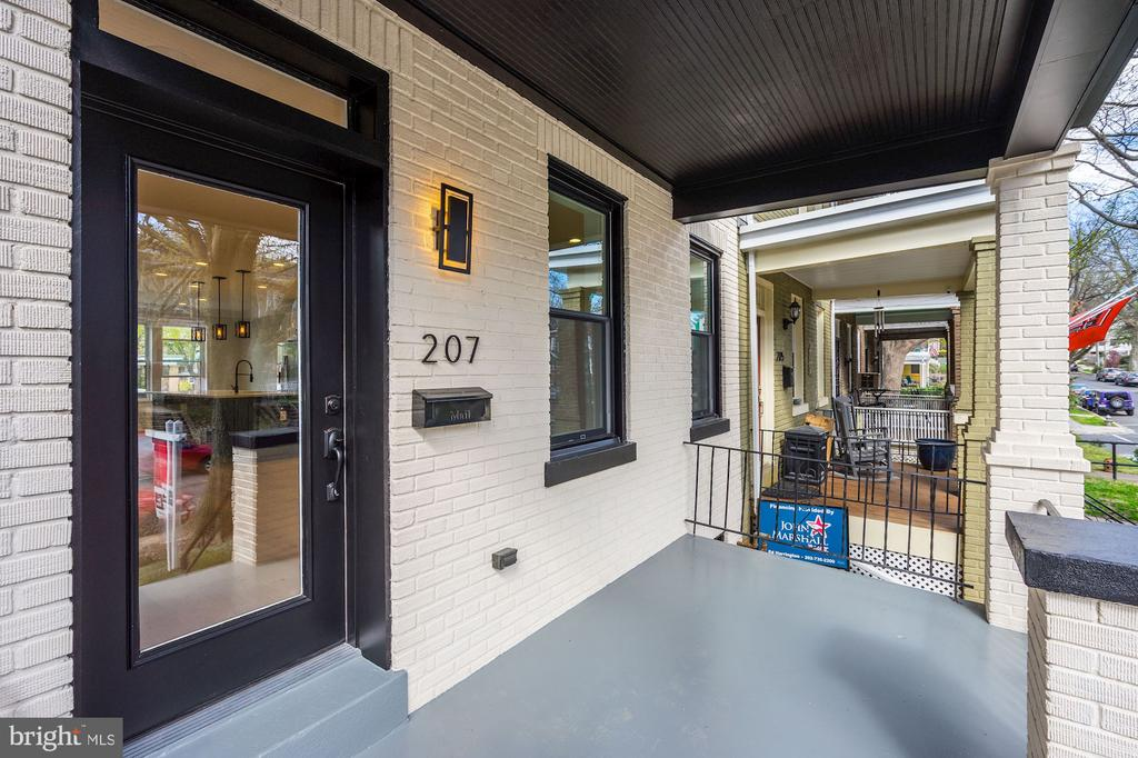 Delightful Covered Front Porch - 207 VARNUM ST NW, WASHINGTON