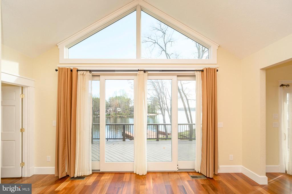 Look at the view of the water from the Great Room. - 123 MT VERNON CT, LOCUST GROVE