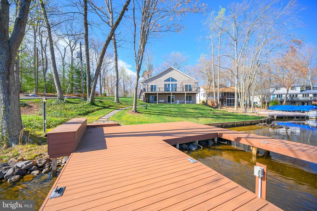 Beautiful view from the dock to the house - 123 MT VERNON CT, LOCUST GROVE