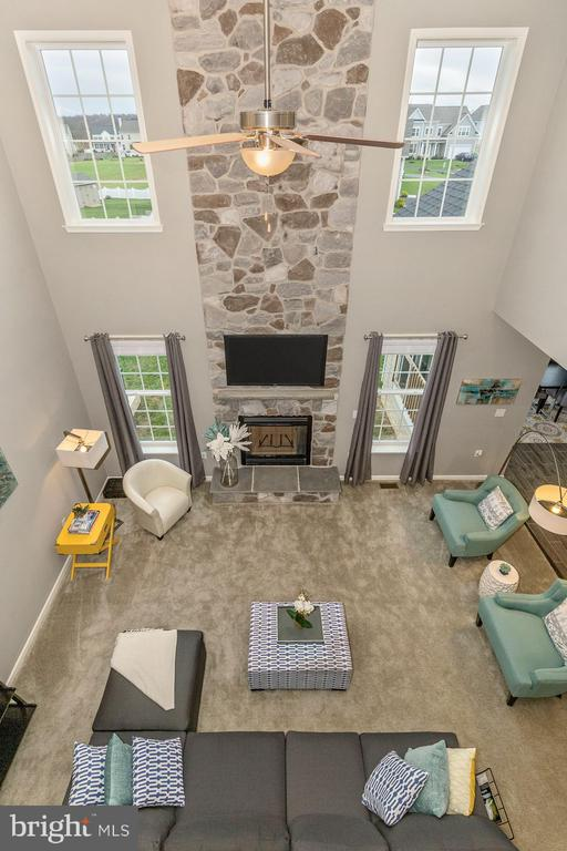 2-Story Family Room with optional Stone Fireplace - 307 NICHOLAS HALL ST, NEW MARKET