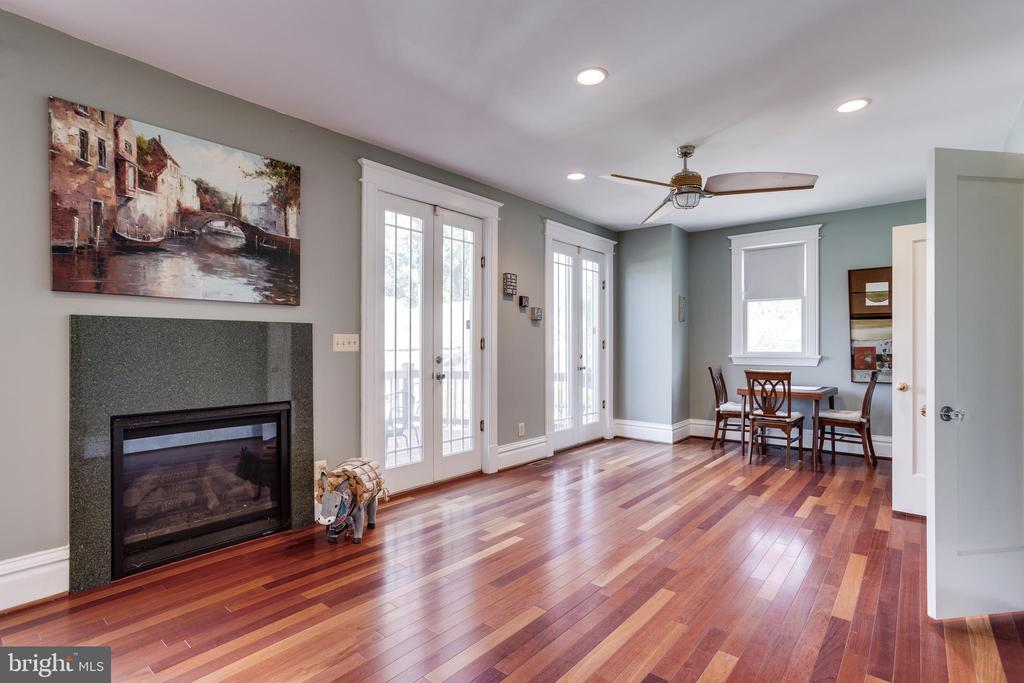 Family Room (Gas Fireplace) - 4311 BRADLEY LN, CHEVY CHASE