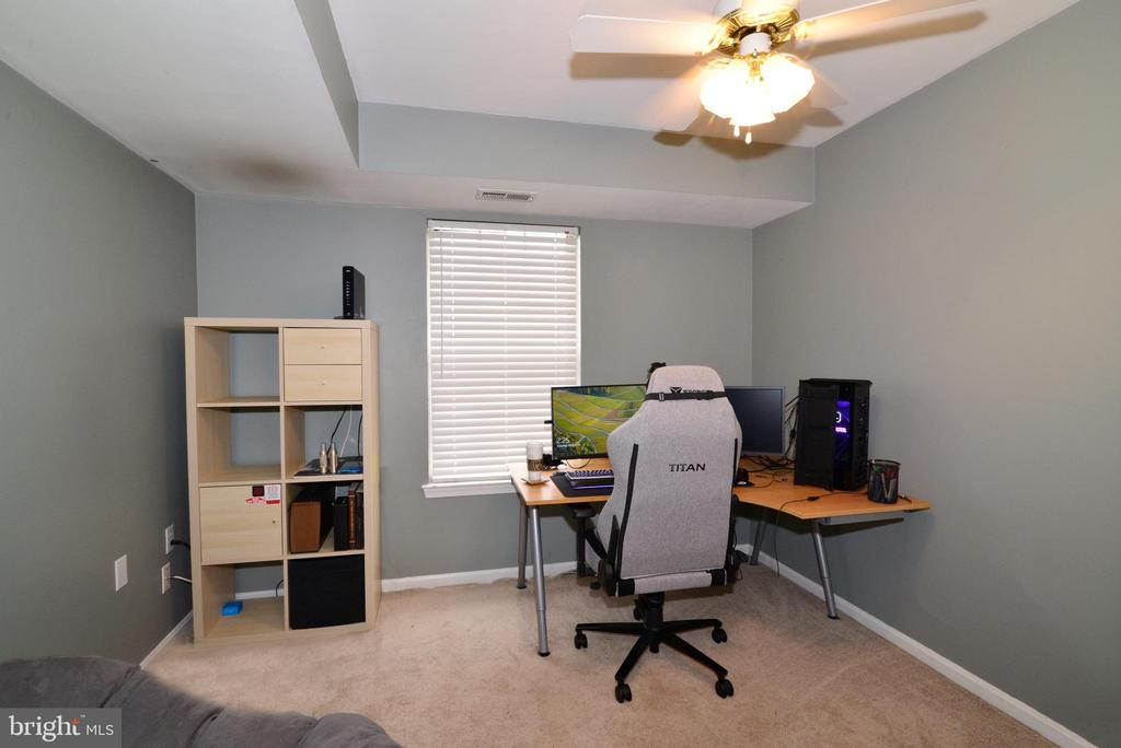 Bedroom #2 with carpet, lighted ceiling fan! - 7874 WAVERLEY MILL CT, GAINESVILLE
