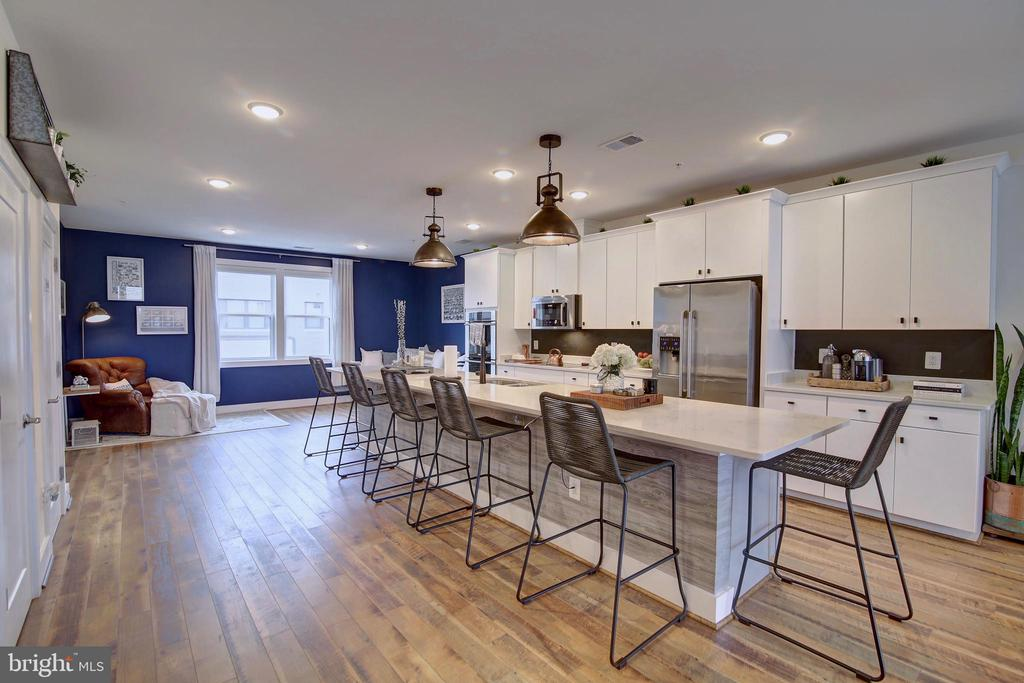 Open concept - kitchen, dining and great room - 20539 MILBRIDGE TER, ASHBURN