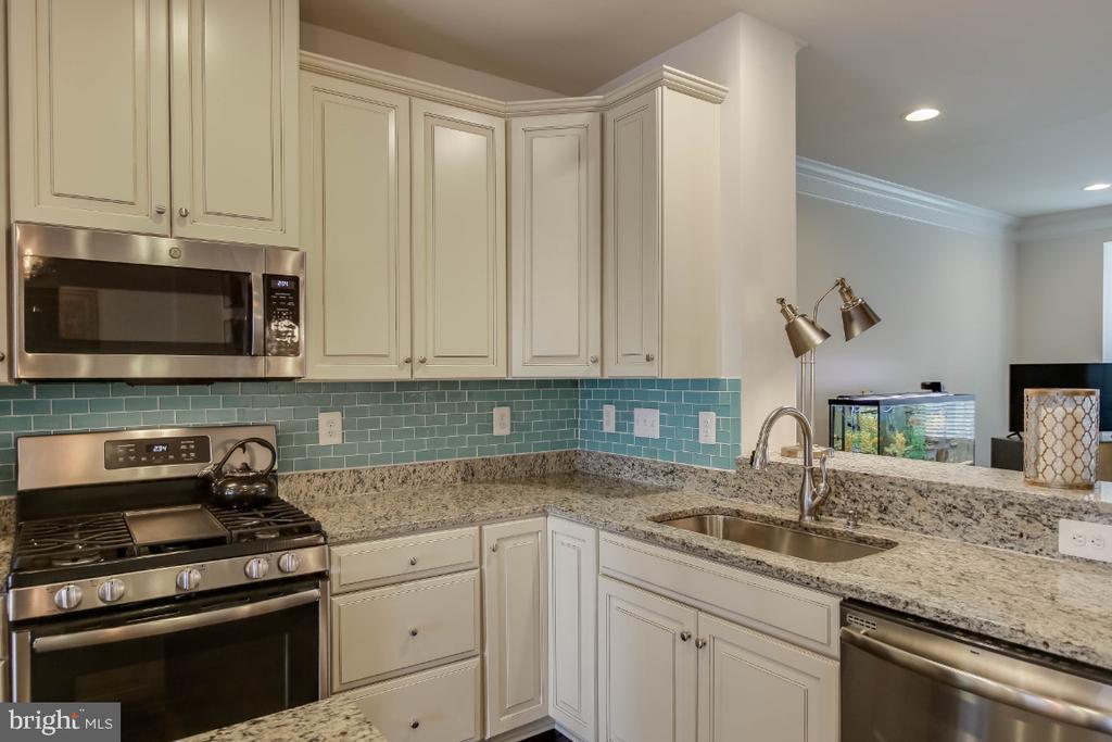 Gleaming granite countertops and backsplash - 5812 ROCHEFORT ST, IJAMSVILLE