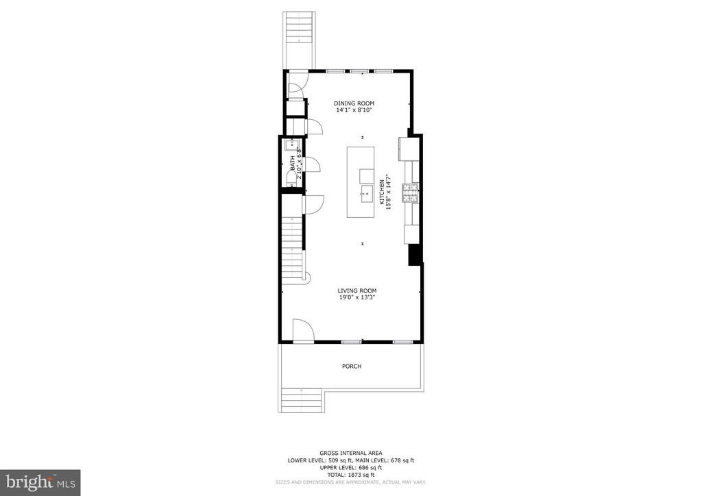 Main Level Floor Plan - 207 VARNUM ST NW, WASHINGTON